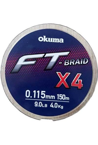 Okuma Ft-Braided X4 Line 150M Grey Örgü Ip Misina