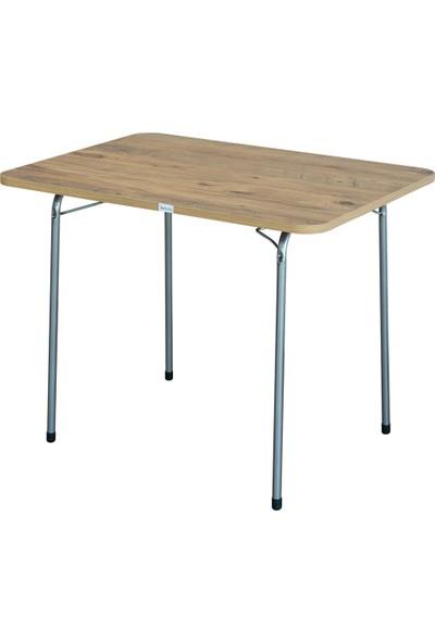 Byeren 60*80 Piknik Masası Ceviz