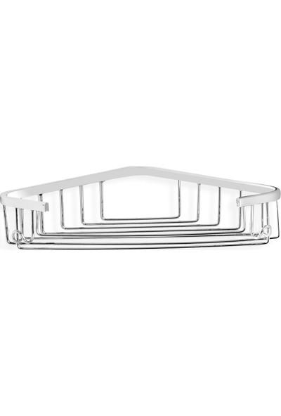 Çelik Banyo Tekli Köşe Süngerlik 18 x 18 cm