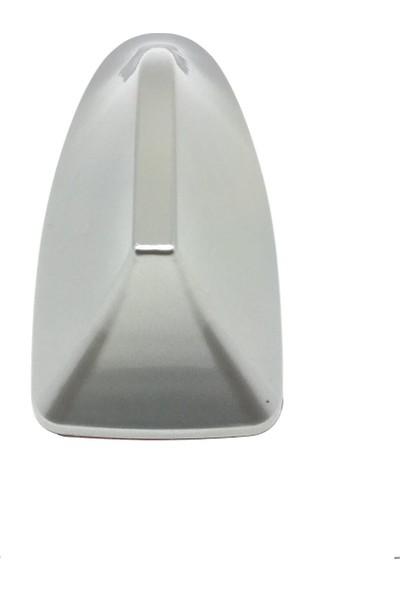 Oto Aksesuarcım Balık Sırtı Jaws Köpek Balığı Elektronik Oto Anten Gümüş Gri
