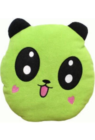 Ayçocuk Yeşil Peluş Panda Yastık 35 cm