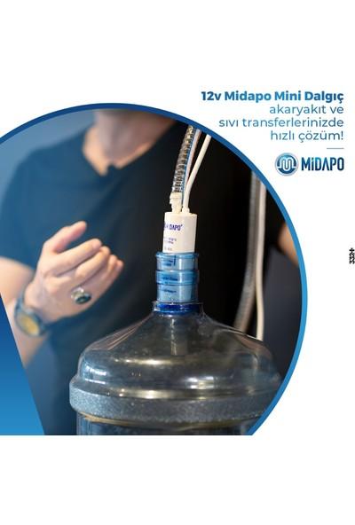 Midapo 12V Kucuk D.c Midapo Mini Dalgıc Hortumlu Duş Başlıklı Set (Duş-Su Aktarma Transfer Pompası )