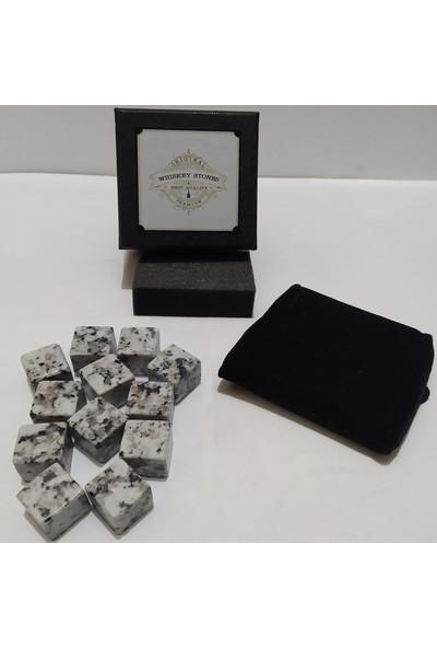 Stone Viski Soğutma Taşı Granit Buz Küpü 2X2Cm 12 Adet Beyaz