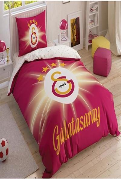 Taç Lisanslı Nevresim Takımı Tek Kişilik Galatasaray Light Glow