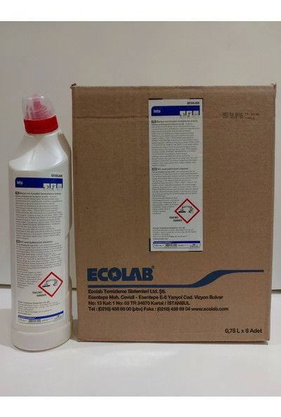 Ecolab Into Banyo ve Tuvalet Temizleyici Kireç Sökücü 750 ml 6 'lı