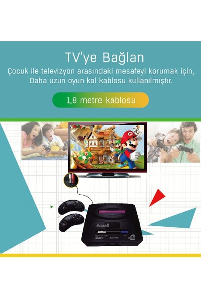 Kontorland 16 Bit Tv Oyun Atarisi Md-48