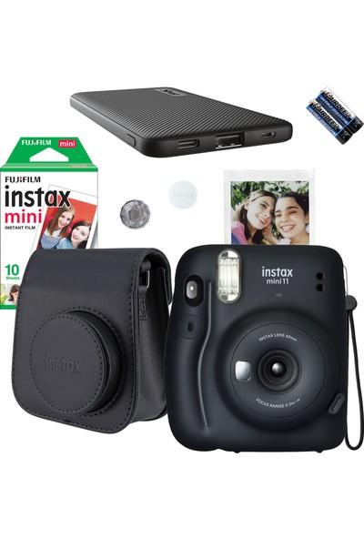 Instax Mini 11 Siyah Fotoğraf Makinesi ve Powerbank Set 3