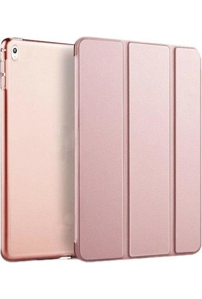 """Teknoliman Apple iPad Pro 12.9"""" Smart Cover Standlı Koruyucu Kılıf Mor"""