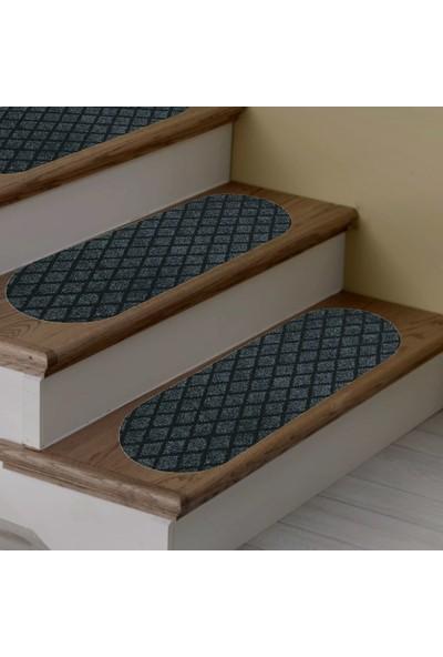 Stepmat Desenli Kaymaz Tabanlı Merdiven Basamak Paspası / Halısı