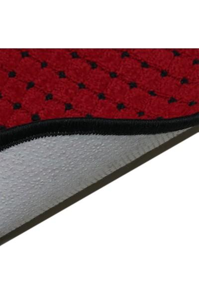 Stepmat Kırmızı Bukle Kaymaz Tabanlı Merdiven Basamak Paspası / Halısı