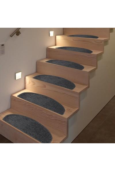 Stepmat Tufting Halıdan Yapışkantabanlı Merdiven Basamak Paspası / Halısı