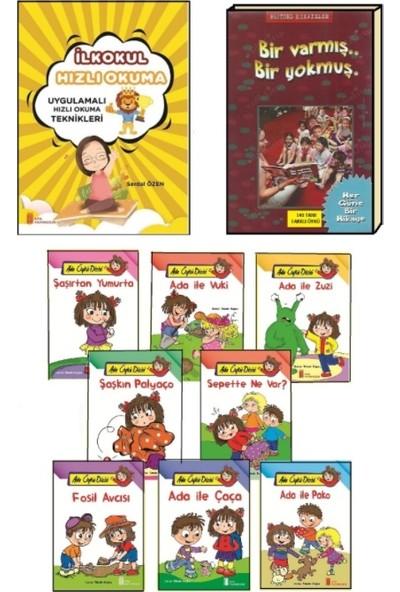 1. Sınıf Hızlı Okuma Kitabı - Bir Varmış Bir Yokmuş - 1. Sınıf Büyük Boy 8'li Hikaye Kitabı Seti