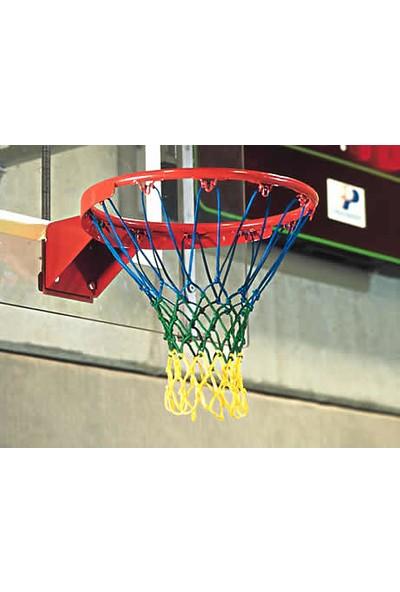Özbek Basketbol Filesi 4mm Polys. Mavi - Yeşil - Sarı - 2 Adet (Basketbol Pota Ağı)