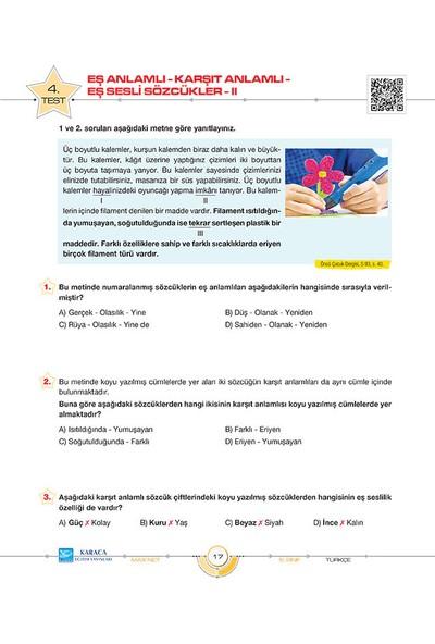 Karaca Yayınevi Maxnet 5. Sınıf Türkçe Soru Kitabı