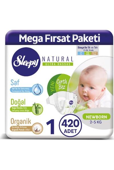 Sleepy Bebek Bez 1 Numara Yenideoğan 420 Adet 2 - 5 Kg