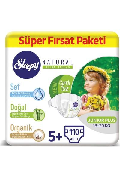 Sleepy Natural Bebek Bezi 5+ Numara Junior Plus Süper Fırsat Paketi 13 - 20 kg 110 Adet