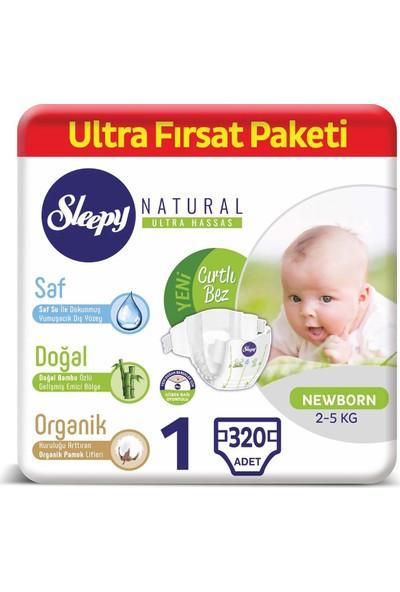 Sleepy Natural Bebek Bezi 1 Numara Yenido?an Ultra Fırsat Paketi 2 - 5 kg