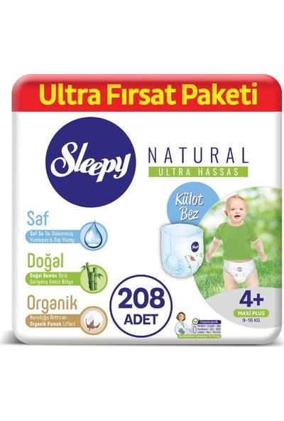 Sleepy Natural Külot Bez 4+ Numara Maxi Ultra Fırsat Paketi 9 - 16 kg 208 Adet