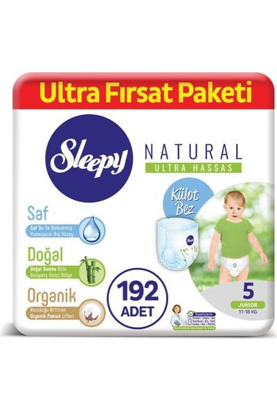 Sleepy Natural Külot Bez 5 Numara Junior Ultra Fırsat Paketi 11 - 18 kg 192 Adet