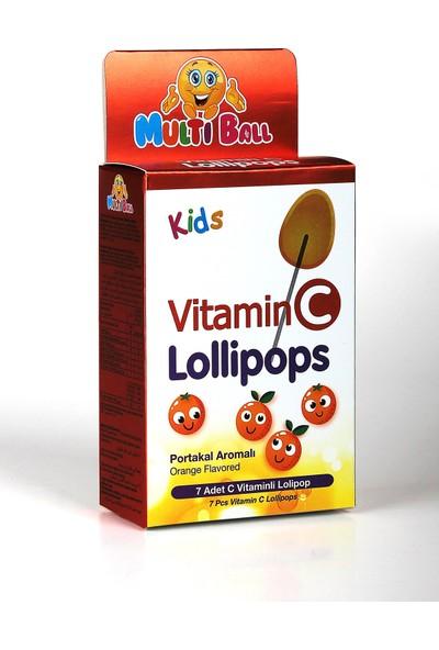 Multıball Kids Vıtamın C Lollıpops