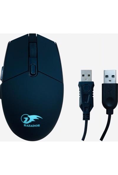 Razador RS-601 Fury Gaming Işıklı Klavye Mouse Set