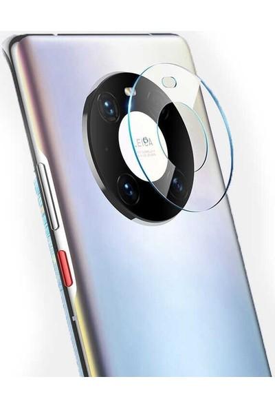 Casestreet Huawei Mate 40 Pro Kamera Lens Koruyucu Cam Şeffaf Siyah