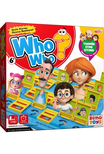 Zeno Toys Who Who Bil Bakalım Kutu Oyunu