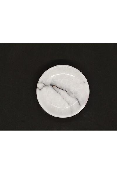Lagabya Beyaz Mermer Katı Sabunluk