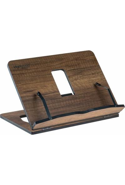 Vigo Wood Kitap Okuma Standı Ceviz Mdf Slim