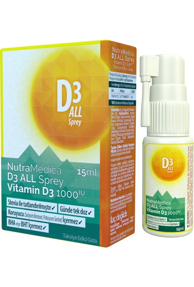 Mensis Nutramedica D3 All Sprey Vitamin D3 1000 Iu