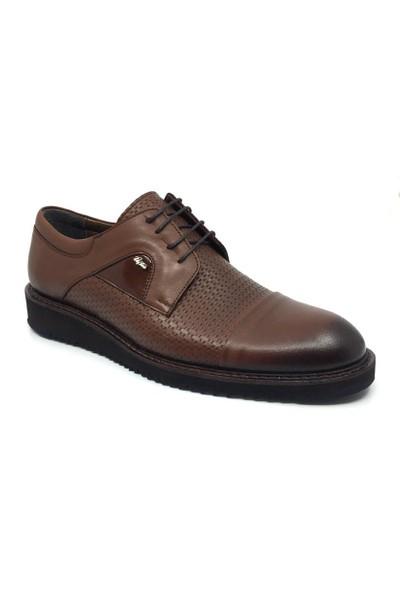 Üçlü Deri Erkek Günlük Klasik Yazlık Bağcıklı Ayakkabı