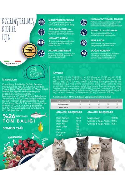 Exclusion Düşük Tahıllı Monoprotein Ton Balıklı Kısırlaştırılmış Kedi Maması 300 Grm