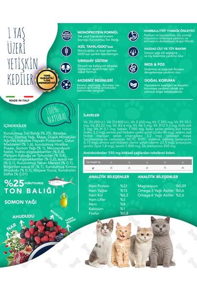 Exclusion Düşük Tahıllı Monoprotein Ton Balıklı Yetişkin Kedi Maması 300 Grm