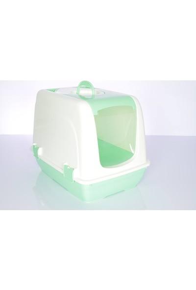 Cabarre K.kedi Tuvaleti, Paspası ve Yuvarlak Büyük Mama Kabı Yeşil
