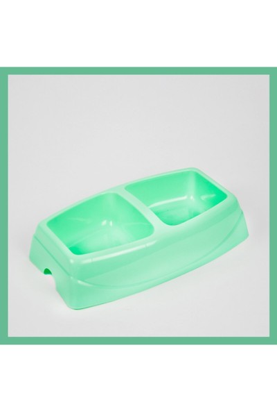 Cabarre K.kedi Tuvaleti, Paspası, Hanzneli Su Kabı 1.75 Lt ve Ikili Küçük Mama Kabı Yeşil