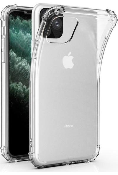 Fujımax Apple iPhone12 Mini Guard M2 Saydam Antişoklu Silikon Kılıf Şeffaf