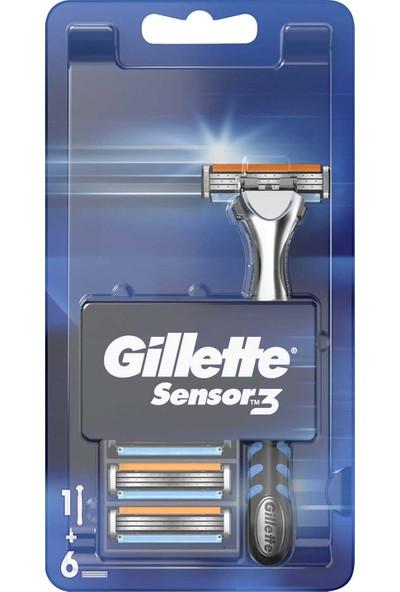 Gillette Sensor3 Makine + 6 Yedek