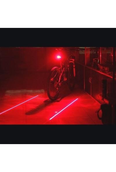 Rbk Bisiklet Arka Lazerli Stop Arka Lamba Çakar LED Lazerli