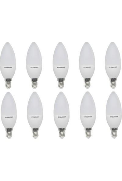 Sylvania E14 LED Mum Lamba 5 W Beyaz Işık 10'lu