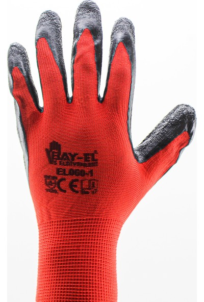 Bay-El EL060-1 Latex Eldiven Kırmızı No:9
