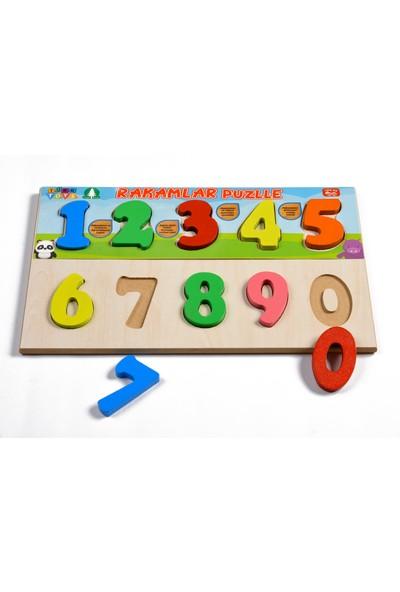 Türk Toys Ahşap Puzzle 3'ü 1 Arada Set Alfabe-Sayılar