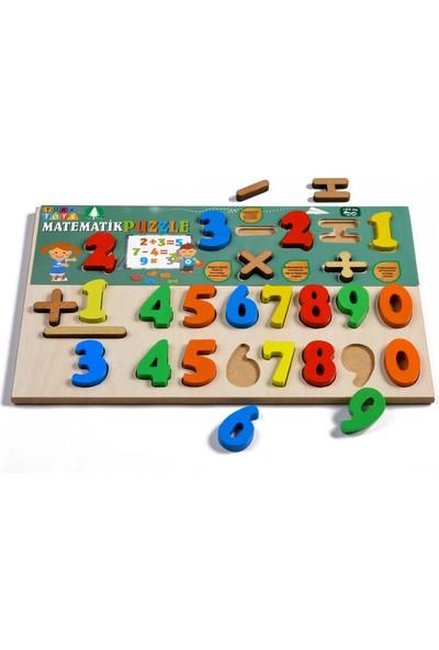 Türk Toys Ahşap Puzzle 3'si 1 Arada Set Alfabe-Matematik