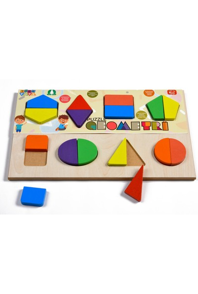 Türk Toys Ahşap Geometri Puzzle Bultak