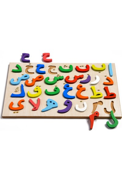 Türk Toys Ahşap Puzzle 2'si 1 Arada Set Alfabe-Elif Ba