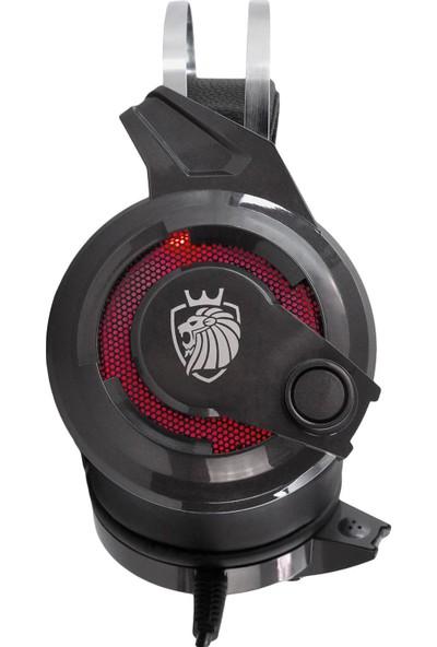 MF Product Strike 0647 Kablolu Kulak Üstü Oyuncu Kulaklığı 7.1 USB Gri
