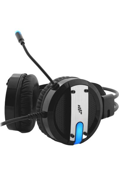 MF Product Strike 0607 RGB Kablolu Kulak Üstü Oyuncu Kulaklığı 7.1 USB Siyah