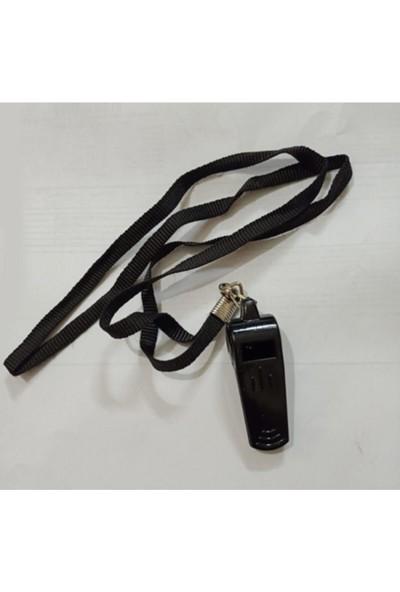 Army Siyah Plastik Düdük Ipli (Polis ve Bekçi Düdüğü)