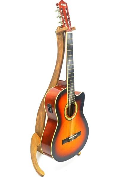 Bayz Ahşap Gitar Elektro Gitar Ut Standı Sehpası Dekoratif Ürün
