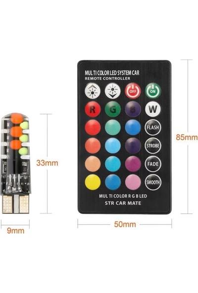 Sisa T10 LED 18LED Çakar Modlu Kumandalı Rgb Yeni Nesil
