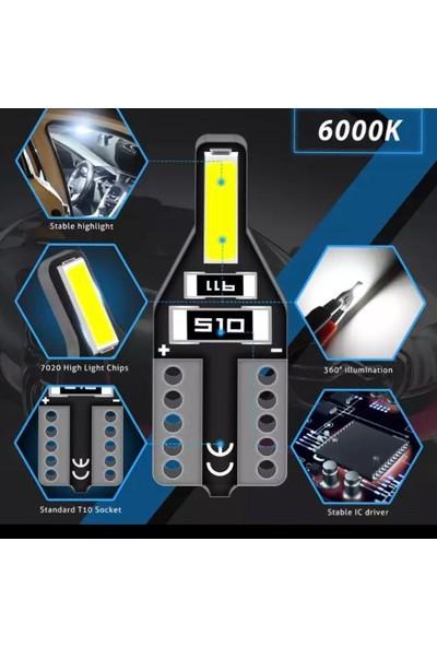 Sisa T10 LED Yeni Nesil Suya Dayanıklı Metal Kasa Beyaz Ultraled 2 Adet